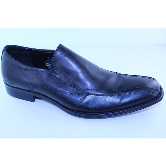 Kenneth Cole Play a Trick Black Leather Loafers 12